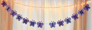 its a girl baby shower purple customized lavendar butterfly polka dot banner