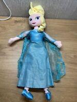 Disney Princess Plush Winter Elsa 18 Inch Soft Toy Teddy Collectable Frozen Doll
