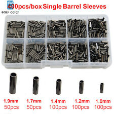 400pcs/box 100% Copper Single Barrel Crimping Sleeves Tube Connector 1.0mm-1.9mm