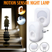 AC110-240V 2W LED Plug-in Motion Sensor Light Wall Night Lamp EU/US Plug