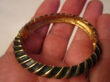 BRACELET CUFF MADE IN AUSTRALIA - SIGNED DESIGNER - BLACK & GOLD - TUB SC-1