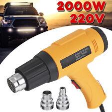 2000W Hot Air Heat Gun Adjustable Heating Electric Tool + Nozzle Power Heater D