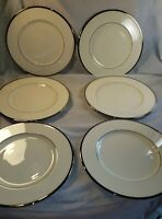 Lenox Montclair 6 Salad Plates Platinum Trim Made In USA