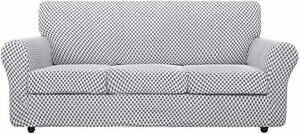 """4 Piece Stretch Sofa Slipcover Cover Protector for 3 Cushion Couch XL 91""""-110"""""""