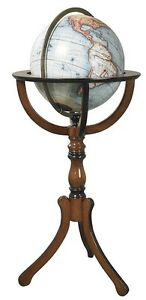 Library World Globe with Floor Stand Antique Reproduction
