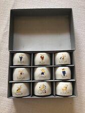 Pottery Barn Reindeer Napkin Rings Set of 9 Santa's Reindeer Christmas