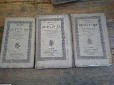 mélanges littéraires tomes 1, 2 & 3  œuvres complètes de Voltaire T 62, 63, 64