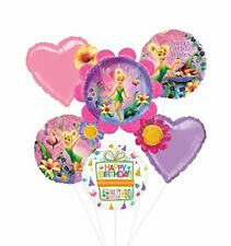 Tinkerbell Birthday Party Supplies and Flower Cluster Balloon Bouquet Decoration