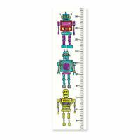 Arthouse Retro Robot Canvas Ruler Measuring Canvas Sci Fi Kids Bedroom Wall Art