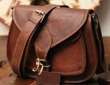 New Leather Messenger Bag For Women Vintage Brown Shoulder Handmade Purse
