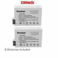 Kastar Battery LPE8 for Canon LP-E8 and Canon EOS 550D 600D Rebel T2i T3i X4 X5