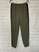 JOE B Womens Pull On Jogger Pants M Size Elastic Waist Green