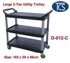 Large Utility Trolley 3 Shelf Kitchen/ Restaurant / Catering