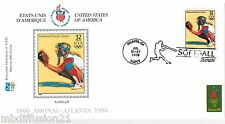 1996**FDC 1°JOUR**COMITE INTERNATIONAL OLYMPIQUE-SOFTBALL-ATLANTA*TIMBRE USA