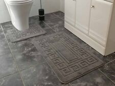Soft Machine Washable Non-Slip Bathroom Toilet Floor Mats Sets Rugs 2 Two Pieces