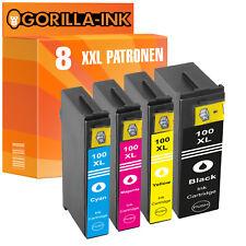 Set 8 Patronen XXL für Lexmark 100 Impact S305 Interact S602 S605 S608