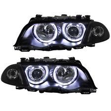Scheinwerfer Set LED Angel Eyes für BMW E46 Limo Touring Bj. 98-01 Schwarz