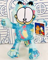 "New GARFIELD & Odie Plush Color Block Multicolor Toy Factory Stuffed Doll 9"" NWT"