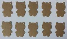 10 Cat shaped Gift Tags/labels