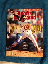 DENNIS ECKERSLEY Signed Autographed BASEBALL Magazine SI Oct 22,1990 HOF A's