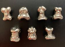 "Vintage Crazy Bones GoGo Original Silver Chrome Metallic 1"" Tall"