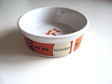 Hundenapf Futternapf Fressnapf Keramiknapf in weiß/orange