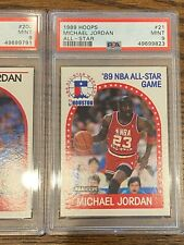 1989 Hoops MICHAEL JORDAN All-Star #21 PSA 9 MINT ! 🔥GOAT ! 14X ALL-STAR 5X MVP