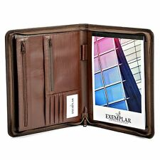 Zippered Padfolio Portfolio Organizer, Professional PU Leather Folder for Busine