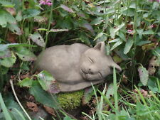 STONE GARDEN LYING / SLEEPING CAT KITTEN ORNAMENT / MEMORIAL