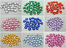 500 Acrylic Rhinestone Flatback Faceted Round Gems 6mm Flat Back Pick Your Color
