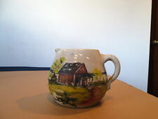 Hand Painted And Signed Pottery Pitcher
