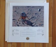 Alan Bean In Flight Print Mint Condition signed by Alan Shepard with COA