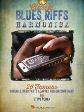 Steve Cohen Classic Blues Riffs For Harmonica Mouth Organ Harp Music Book & CD