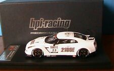 NISSAN NISMO GT-R #23 2010 SUPER TEC HPI RACING 8492 RESINE 1/43 BLANC WHITE