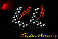 2x Red Car 14SMD Arrow Panel LED Lights For Side Mirror Turn Signal Rear View