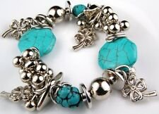 Fashion Charm Bracelet Glass Fimo Shell Metal Plated Beads