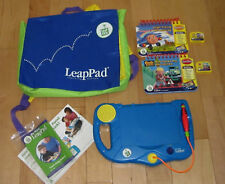 Leap Pad Frog Blue Learning System Backpack / 2 Books