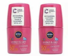 Bundle DEAL 2 x Nivea Sun Kids 50+ Protect & Care Pink Roll on 50ml