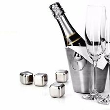 Reusable Wine Whiskey Ice Balls Drink Chiller Stones Rocks Cubes  Stainless Stee