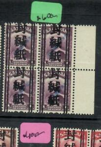 SARAWAK JAPANESE OCCUPATION  (P2508BB) OFF SEAL 1C WITH LABUAN  ST LINE OVPT BL4