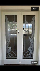 Art Deco Etched Glass Doors