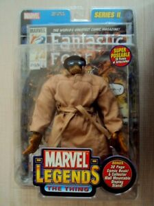 MARVEL LEGENDS SERIES 2 THE THING TRENCHCOAT VARIANT 2002 TOY BIZ FANTASTIC FOUR