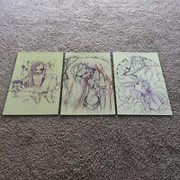 No Heroine 1-3 Peach Momoko Sketch Virgin Variant 3 Pack Set!!  In Hand!! Rare!!