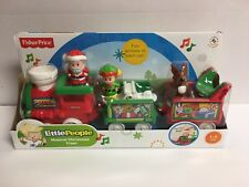 Fisher-Price Little People Musical Christmas Train - Santa, Elf & Reindeer - NEW