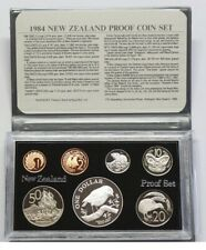 New Zealand - 1984 - Silver Proof Coin Set --  Black Robin
