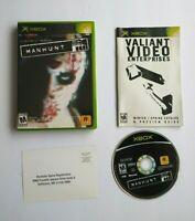 Manhunt (Original Microsoft Xbox, 2004) Rockstar Games, Complete! CIB Man Hunt