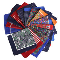 15 Styles Men's Pocket Square Handkerchief Hankies Party Wedding Dot Plaid Hanky