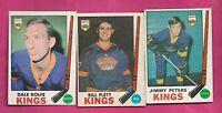 1969-70 OPC KINGS PETERS RC + FLETT +  ROLFE   CARD (INV# C5839)