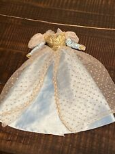 barbie doll evening ball gown formal dress beautiful condition blue and gold