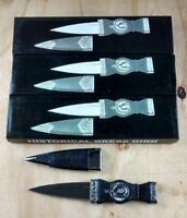 Lot Of 3 Historical Dress Dirk Fixed Blade Knives W/ Sheaths